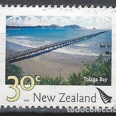 Sellos: NUEVA ZELANDA 2009 - PAISAJES, BAHÍA DE TOLAGA - SELLO USADO. Lote 211260559