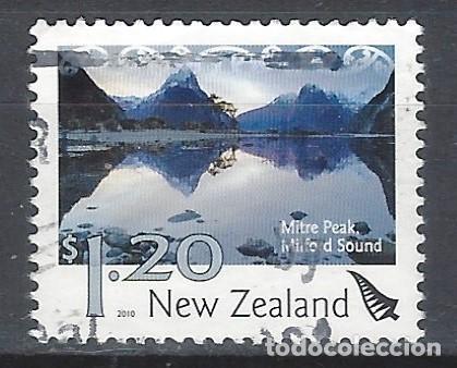 NUEVA ZELANDA 2010 - PAISAJES, MITRE PEAK, MILFORD SOUND - SELLO USADO (Sellos - Extranjero - Oceanía - Nueva Zelanda)