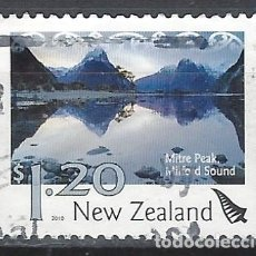Sellos: NUEVA ZELANDA 2010 - PAISAJES, MITRE PEAK, MILFORD SOUND - SELLO USADO. Lote 211260716