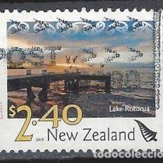 Sellos: NUEVA ZELANDA 2010 - PAISAJES, LAGO ROTORUA - SELLO USADO. Lote 211260781