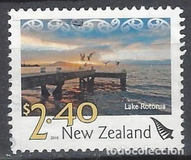 NUEVA ZELANDA 2010 - PAISAJES, LAGO ROTORUA - SELLO USADO (Sellos - Extranjero - Oceanía - Nueva Zelanda)