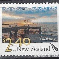 Sellos: NUEVA ZELANDA 2010 - PAISAJES, LAGO ROTORUA - SELLO USADO. Lote 211260806
