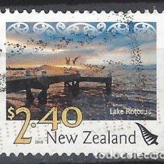 Sellos: NUEVA ZELANDA 2010 - PAISAJES, LAGO ROTORUA - SELLO USADO. Lote 211260834