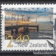 Sellos: NUEVA ZELANDA 2010 - PAISAJES, LAGO ROTORUA - SELLO USADO. Lote 211260867