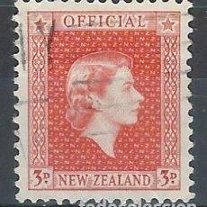Sellos: NUEVA ZELANDA 1954-63 - SELLO OFICIAL, ISABEL II - SELLO USADO. Lote 211263479