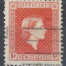 Sellos: NUEVA ZELANDA 1954-63 - SELLO OFICIAL, ISABEL II - SELLO USADO. Lote 211263490