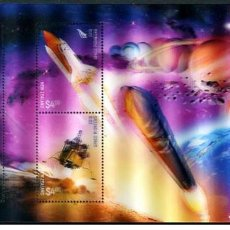 Sellos: NEW ZEALAND 2019 - NEW ZEALAND 2019 SPACE PIONEERS LENTICULAR SS MNH. Lote 212134668