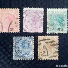 """Sellos: ANTIGUOS SELLOS DENUEVA ZELANDA 1882, REINA VICTORIA, INSCRIPCION NEW ZEALAND - POSTAGE & REVENUE"""". Lote 212478755"""