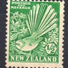 Sellos: NEW ZELAND/1935/MH/SC#185/ AVENICO PIO & CLEMATIDE / AVES / PLANTAS. Lote 215518467