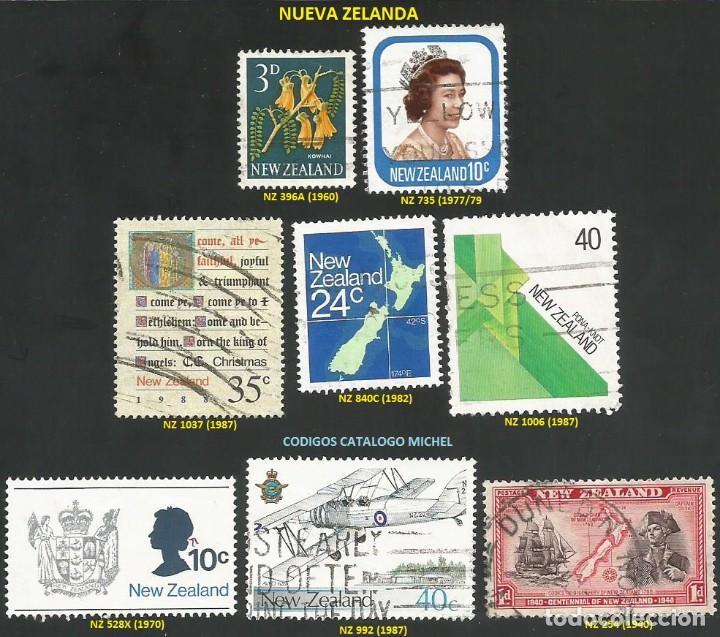 NUEVA ZELANDA 1940 A 1987 - LOTE VARIADO (VER IMAGEN) - 8 SELLOS USADOS (Sellos - Extranjero - Oceanía - Nueva Zelanda)