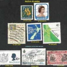 Sellos: NUEVA ZELANDA 1940 A 1987 - LOTE VARIADO (VER IMAGEN) - 8 SELLOS USADOS. Lote 218012211