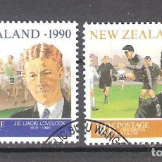 Sellos: NUEVA ZELANDA Nº 1076/77º DEPORTISTAS NEOZELANDESES. ATLETISMO Y RUGBI. SERIE COMPLETA. Lote 221951775