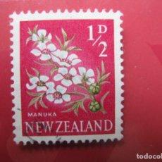 Sellos: +NUEVA ZELANDA, 1960, FLORA, YVERT 384. Lote 222590826