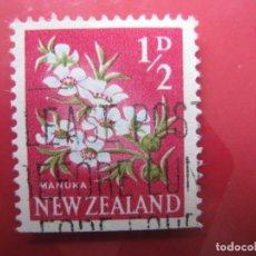 Sellos: +NUEVA ZELANDA, 1960, FLORA, YVERT 384. Lote 222591088
