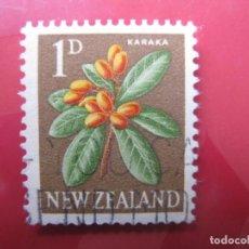 Sellos: +NUEVA ZELANDA, 1960, FLORA, YVERT 385. Lote 222591412