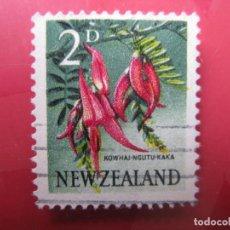 Sellos: +NUEVA ZELANDA, 1960, FLORA, YVERT 386. Lote 222591917