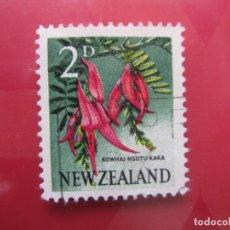 Sellos: +NUEVA ZELANDA, 1960, FLORA, YVERT 386. Lote 222592036