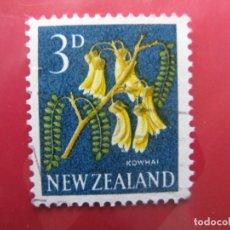 Sellos: +NUEVA ZELANDA, 1960, FLORA, YVERT 387. Lote 222592833