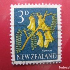 Sellos: +NUEVA ZELANDA, 1960, FLORA, YVERT 387. Lote 222593002