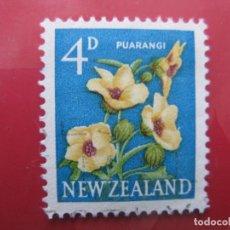 Sellos: +NUEVA ZELANDA, 1960, FLORA, YVERT 388. Lote 222593352