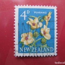 Sellos: +NUEVA ZELANDA, 1960, FLORA, YVERT 388. Lote 222593446