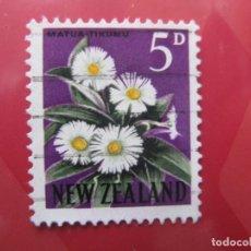Sellos: +NUEVA ZELANDA, 1960, FLORA, YVERT 388A. Lote 222593938