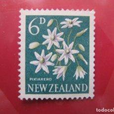 Sellos: +NUEVA ZELANDA, 1960, FLORA, YVERT 389. Lote 222594175