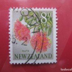 Sellos: +NUEVA ZELANDA, 1960, FLORA, YVERT 390. Lote 222594371