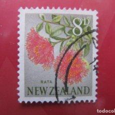 Sellos: +NUEVA ZELANDA, 1960, FLORA, YVERT 390. Lote 222594563