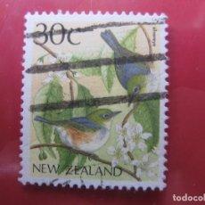 Sellos: +NUEVA ZELANDA, 1988, AVES, YVERT 1013. Lote 222699956
