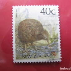 Sellos: +NUEVA ZELANDA, 1988, AVES,KIWI MARRON, YVERT 1014. Lote 222700307
