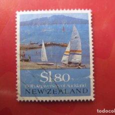 Sellos: +NUEVA ZELANDA, 1990, VISTA PANORAMICA DE AUCKLAND, YVERT 1075. Lote 222741953