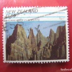 Sellos: -NUEVA ZELANDA, 1991, FORMACIONES ROCOSAS, AHURIRI, YVERT 1125. Lote 222743156