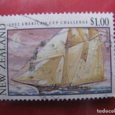Sellos: -NUEVA ZELANDA, 1992, BARCOS DE NUEVA ZELANDA EN LA COPA AMERICA, YVERT 1157. Lote 222743436