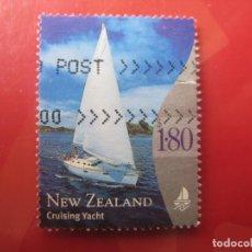 Sellos: +NUEVA ZELANDA, 1999, YATE DE CRUCERO, YVERT 1733. Lote 222744533