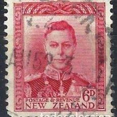 Francobolli: NUEVA ZELANDA 1938-47 - JORGE VI - USADO. Lote 224447525