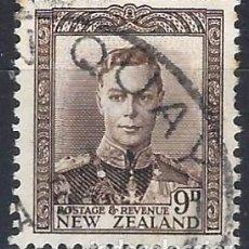 Francobolli: NUEVA ZELANDA 1938-47 - JORGE VI - USADO. Lote 224447891
