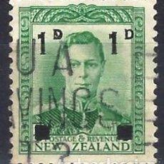 Francobolli: NUEVA ZELANDA 1941 - JORGE VI, SOBRECARGADO - USADO. Lote 224448207