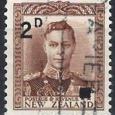 Francobolli: NUEVA ZELANDA 1941 - JORGE VI, SOBRECARGADO - USADO. Lote 224448383