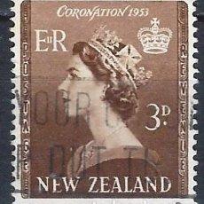 Francobolli: NUEVA ZELANDA 1953 - CORONACIÓN DE ISABEL II - USADO. Lote 224450057