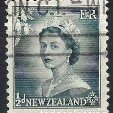 Francobolli: NUEVA ZELANDA 1954 - ISABEL II - USADO. Lote 224452347