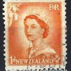 Francobolli: NUEVA ZELANDA 1954 - ISABEL II - USADO. Lote 224452531
