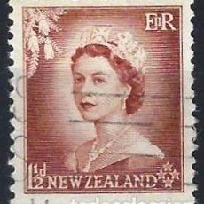 Francobolli: NUEVA ZELANDA 1954 - ISABEL II - USADO. Lote 224452866