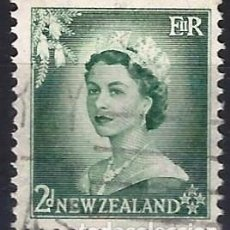 Francobolli: NUEVA ZELANDA 1954 - ISABEL II - USADO. Lote 224452966