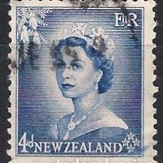 Francobolli: NUEVA ZELANDA 1954 - ISABEL II - USADO. Lote 224453363