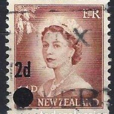 Francobolli: NUEVA ZELANDA 1958 - ISABELL II, SELLO DEL 55 SOBRECARGADO - USADO. Lote 224454000