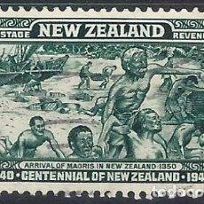Francobolli: NUEVA ZELANDA 1940 - CENTENARIO DE LA PROCLAMACIÓN DE LA SOBERANÍA BRITÁNICA - USADO. Lote 224464257