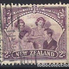 Francobolli: NUEVA ZELANDA 1946 - LA FAMILIA REAL - USADO. Lote 224466965