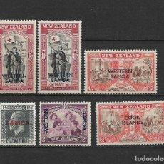 Sellos: NUEVA ZELANDA - SAMOA * MH - 7/8. Lote 235318380