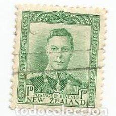 Sellos: SELLO USADO DE NUEVA ZELANDA DE 1941- REY JORGE VI- YVERT 238A- VALOR 1 PENIQUE. Lote 235792170
